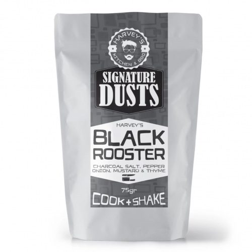 Black Rooster Dust chicken wing dust