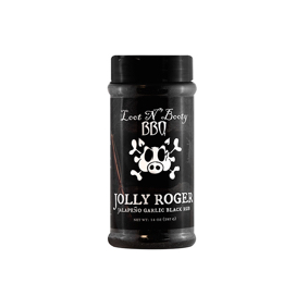 loot n booty bbq, Jolly Roger , jalapeno garlic black rub
